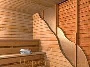 Вбирать теплоизоляцию для бани нужно среди волокнистых, минераловатных материалов